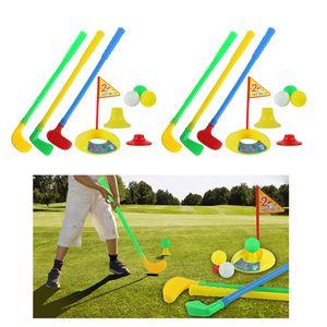 2sets Смешной Kids Golf Club клюшки Гольф Игрушка Положив Cup Hole целевой инструмент игры