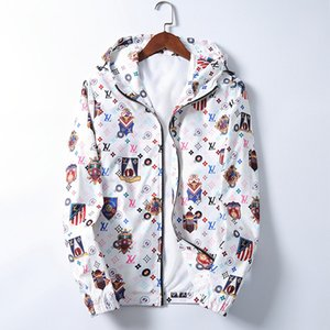 20ss Fashion Jacket Windbreaker Long Sleeve Mens Jackets Hoodie Clothing Zipper with Animal Letter Pattern Plus Size Clothes