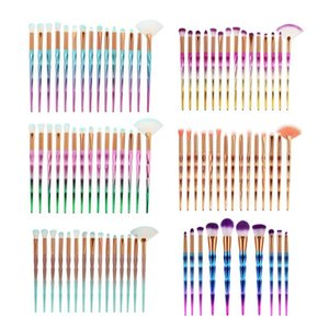 15pcs 3D Diamond Fan-shape Powder Eye Shadow Eyebrow Makeup Brushes Set Kit