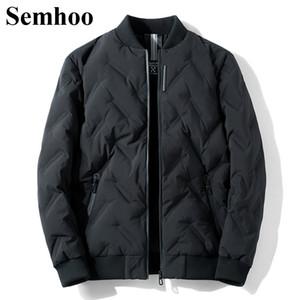 Men's Down Parkas 2021 chaquetas de invierno casual grueso cálido blanco pato chaqueta de pato collar collar de color sólido moda simple para hombre