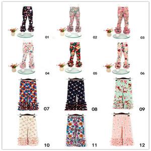 Criança do bebé crianças impressão Leggings Leggings Lace Pants Moda Infantil Meninas Calças 0-6Y Para 21 cores