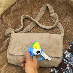 Moda siyah makyaj çantası ünlü desen 6 renkler lüks parti çantası pazen omuz çantası kaliteli peluş Depolama paketi