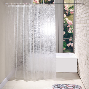Waterproof 3D Bath Shower Curtain With 12 Hooks Bathing Sheer For Home Decoration Bathroom Accessaries 180X180cm 180X200cm
