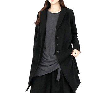 LANMREM 2019 AUTUNNO AUTUNNO NUOVO FASHION WEMBINE Donne Cappotto Allentato Plus Color Solid Color Single-Breasted Cappotto corto TC160