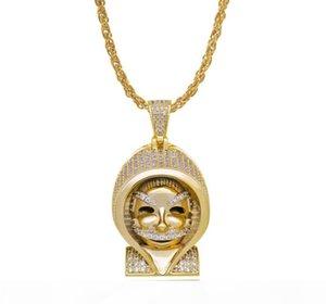 2019 New wholesale hip hop Egyptian Pharaoh pendant copper zircon micro inlaid Necklace