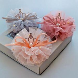 Taç prenses saç pin kız renkli iplik inci yay saç pin çocuk parlak aksesuarları doğum günü partisi aksesuarları
