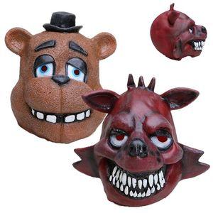 Naoshima Masque de Freddy FNAF Foxy Chica Freddy Fazbear Ours Masque cadeau pour les enfants Halloween Party Décorations Supplie