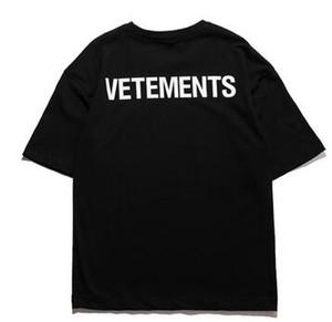 vete персонал мужские VETEMENTS письма печатных футболка лето с коротким рукавом топы одежда