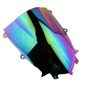 Iridium Motorycle ABS Double Bubble parabrezza Parabrezza protezione per YZF600 YZFR6 YZFR6 2017-2018 YZF600 R6 17 18