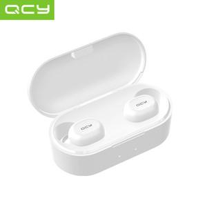 QCY QS2 / T2C / T1S Bluetooth 5.0 auricular auriculares estéreo deporte control táctil TWS wreless auricular para el iPhone de música Samsung Sony auriculares Mic