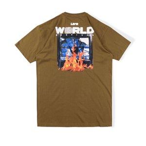 20ss Primavera-Verão EUA Travis Scott Astroworld Cactus Jack Flaming TV Tee T-shirt dos homens do desenhista camisetas Puff Imprimir camisa de algodão Mulheres T