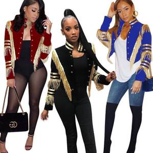 Großhandel 2020European und amerikanische neue Frauen beiläufige Art und Weise Gold Bar Quaste Jacken-freies Verschiffen