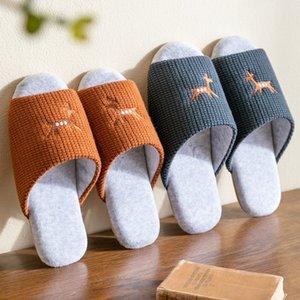 Traspirante tessuto a maglia Indoor pantofole femminile Home pattini La suola della casa degli amanti Piano Muto Slipper dame di luce diapositive SH403