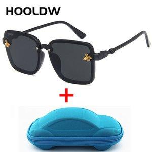 HOOLDW Oversize Kare Çocuk Güneş Marka Tasarım Çocuk Güneş Gözlükleri UV400 Koruma Boys Kız Seyahat Gözlük