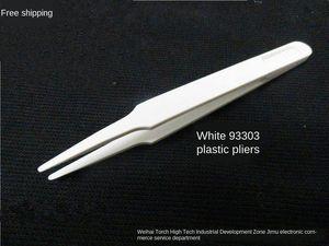 2019 الأبيض البلاستيك 93303 2019 تنقية تنقية البيضاء 93302 93305 93308 ملاقط غير المغناطيسية خالية من الغبار ملاقط تنقية