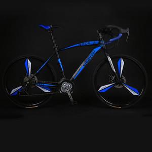 Шоссейный велосипед Мужчины и Женщины Твердые Shift Shift Изгиб мышц Двойные дисковые тормоза Один круглый три ножа Студенческий велосипед