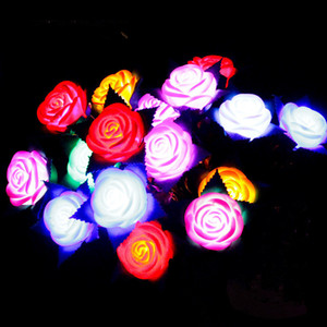 Presentes Decoração do casamento Presentes Flower Valentine LED Rose Luminous Flores Partido Glowing Light Up Rose Luz Flor para C121805 Dia das Mães