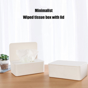 Tissue Storage Box Case Wet Wipes Dispenser Holder with Lid for Home Office UD88