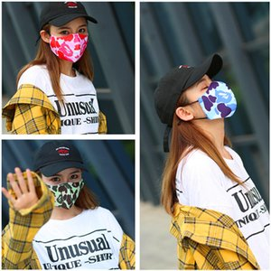 Unisex Camouflage Patchwork Face Mask Breathable Cover Mouth Face Masks Anti Dust Windproof Mask Adults Warmer Cycling Mask Cover 2020 New