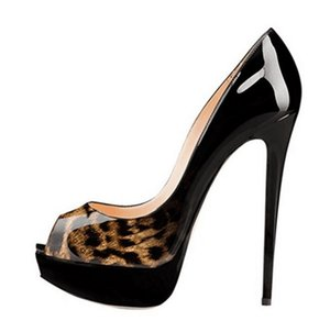 2019 Sexy fish-nosed platform platform high-heeled shoes with peep-toe heels designed by European American fashion designers women shoes