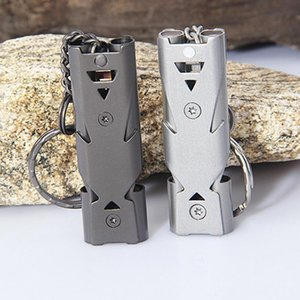 150db Double Tube High Decibel Outdoor Survival Whistle Stainless Steel Soccer Football Basketball Hockey Referee Whistle