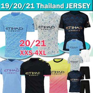 20 21 manchester maglia da calcio della città STERLING De Bruyne Kun Aguero kit 2020 2021 SANE camicia JESUS calcio degli uomini + bambini set uniforme Thailandia