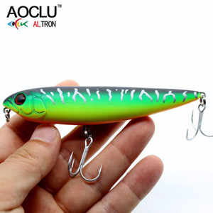 AOCLU wobblers Super Quality 6 Colors 10.5cm 15.6g Hard Bait Minnow Crank PopperFishing lures Bass Fresh Salt water 4# VMC hooks