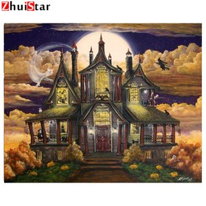 Diamant-Malerei Halloween Art Geisterhaus Manor Ghosts Diy Diamant-Stickerei-Mosaik-Bild Strass Handmade Kits WHH