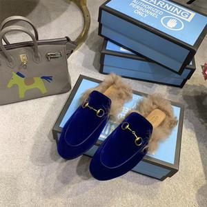 chinelos moda feminina clássica do cavalo de fivela meio chinelos mulheres inverno manter aquecido sapatos casuais Baotou Mueller sapatos preguiçoso metade plana arrastar sapato