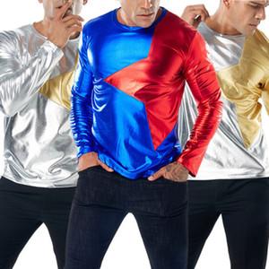 2018 Mode Hommes solide Glitter Paillettes Nightclub Sweatshirt à capuche à capuche Hauts à capuche de Noël Closplay