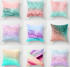 Glitter Pillow Case Throw Pillow Case Glitter Sequin Home Decoration Cushion Cover for Couch Sofa Bed