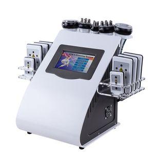 Nouvelle Promotion 6 En 1 Ultrasons Cavitation Vide Radio Fréquence Lipo Laser Minceur Machine pour Spa DHL FEDEX Expédition