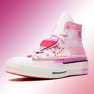 2020 New Chuck 70 HALLO Petal Millie Bobby Brown 167298C Rosa Lila Frauen-beiläufige Skate Schuhe Designer-Turnschuhe mit Beutel-Kasten-Größe 36-39
