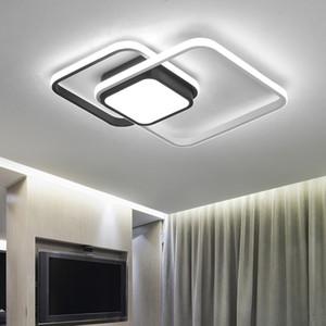 LICAN Dormitorio Sala de estar Luces de techo Lámpara LED moderna plafond avize Lámpara de luces LED moderna con control remoto