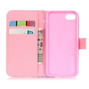 Luxury Card Slots Case For Cover iPhone SE 2020 7 8 6 6S Plus 5 5S 7Plus Fundas Stand Magetic Flip Leather Wallet Cases D03E