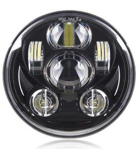 Motosiklet 5-3 / 4 5,75 LED Far Harley Davidson 883, sportster, üçlü, düşük binici, geniş Far Projektör Sürüş Işık kayma