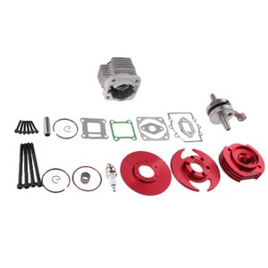 Engine Cylinder Head Crank Cover Big Bore Top End Kit for 50cc Mini Dirt Pocket Bike