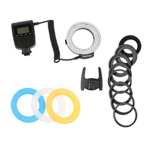 RF-550D Macro 48Pcs LED Ring Flash Light для Sony Nikon для Canon Olympus Pentax DSLR камер