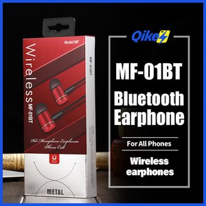 MF01BT Bluetooth Earphone Neckband Magnetic Wireless earphones Stereo Earbuds With Mic For All Phones whit TF memory card slot