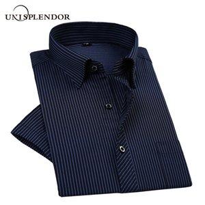 Unisplendor Cool Man Short Shirts Summer Men Short Sleeve Shirts Vacation Business Party Male Shirt Slim Men Tops YN10473