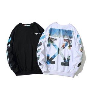 2020 Mens off Designers white Hoodie Sweatshirt Мужчины Женщины свитер толстовка с длинным рукавом пуловер бренд толстовки Уличная мода Sweatershirt