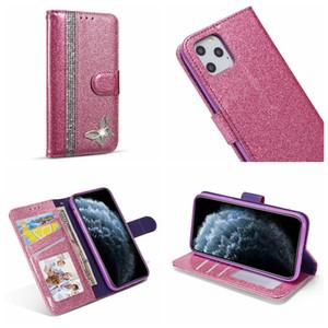 Алмазный Кожаный Бумажник Чехол Для Samsung Note 10 S10 S10e S9 Bling Sparkle Glitter Sparkly Телефон Откидная Крышка Держатель Магнитная Бабочка Роскошь