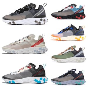 nike air max 87 2019 Epic React Element 87 Undercover chaussures de course pour homme femmes blanc noir NEPTUNE GREEN bleu homme formateur baskets de sport respirantes