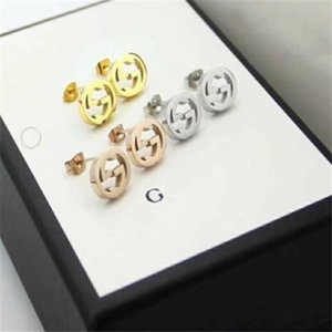 Have stamps fashion diamond hoop cc earrings aretes orecchini for lady Women Party wedding lovers gift engagement a0263