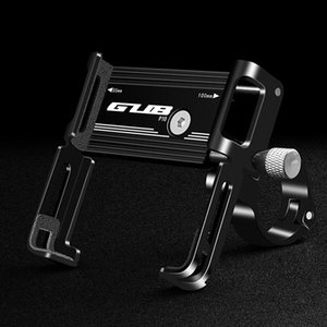GUB Aluminium Alloy Bike Phone Holder Motorcycle Handlebar Mount Handle Phone Support for 3.5-6.2 Inch Smartphone