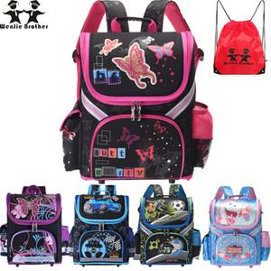 Wenjie Brother Kids Butterfly Школьный рюкзак Ева Сложенные ортопедические детские школьные сумки для мальчиков и девочек Mochila Infantil Y19051701