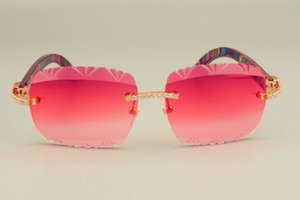 عدسة نمط أفضل مبيعا النظارات الشمسية النظارات الشمسية الطبيعية النظارات الشمسية، تصميم خشبي الماس 2019 8300765 محفورة اللون الجديد جعوم