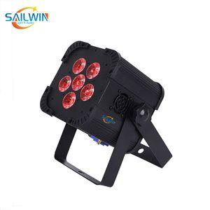 6x18W 6en1 RGBAW + Batería UV Desarrollado control remoto inalámbrico por infrarrojos LED de luz de la igualdad DJ LED UPLIGHT