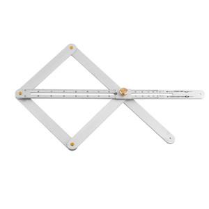 20 # régua de medição Multi-função de transferidor de liga de alumínio de canto Visor Angular teto Artefato Praça Ferramenta Transferidor