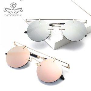 DT 2020 Новая мода Круглый Sunglasse Женщины Мужчины Отличительная Овальный Vintage Простой металлический каркас смолы объектив цвета Солнцезащитные очки UV400